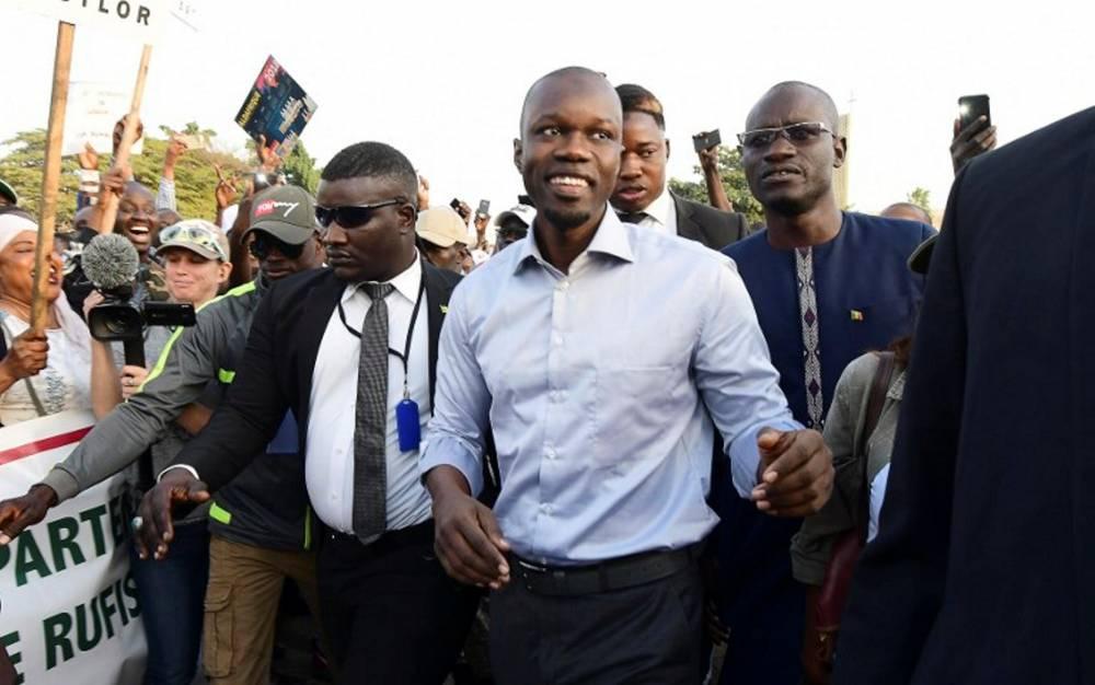 Ousmane Sonko, candidat du PASTEF. © SEYLLOU/AFP