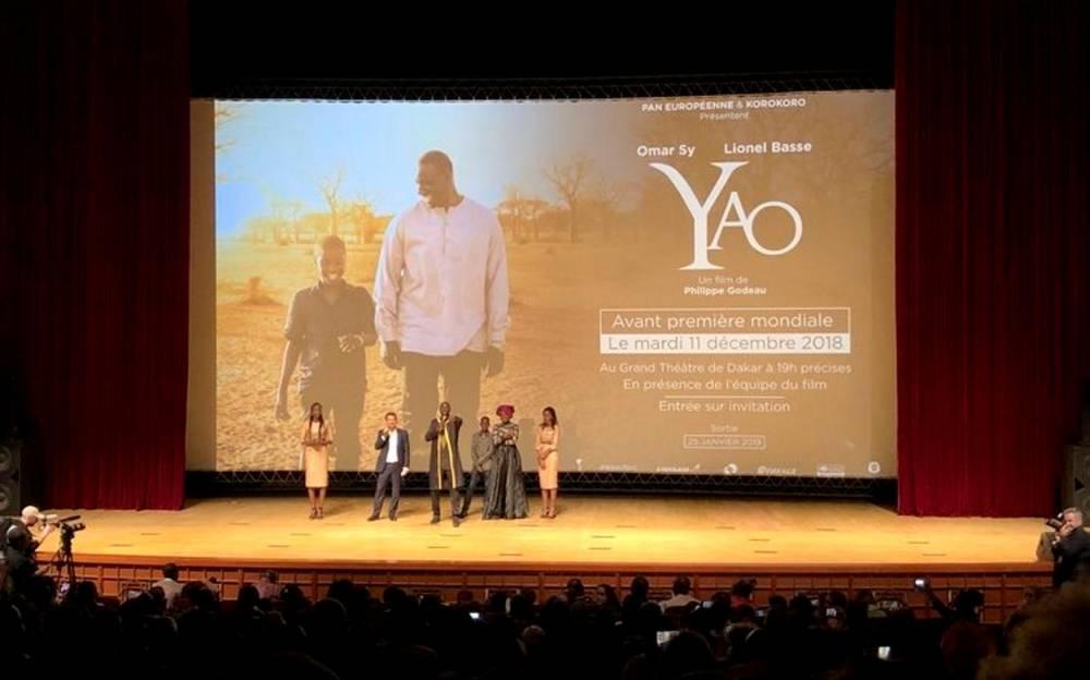 L'équipe lors de la présentation du film, à Dakar le 11 décembre. ©  DR