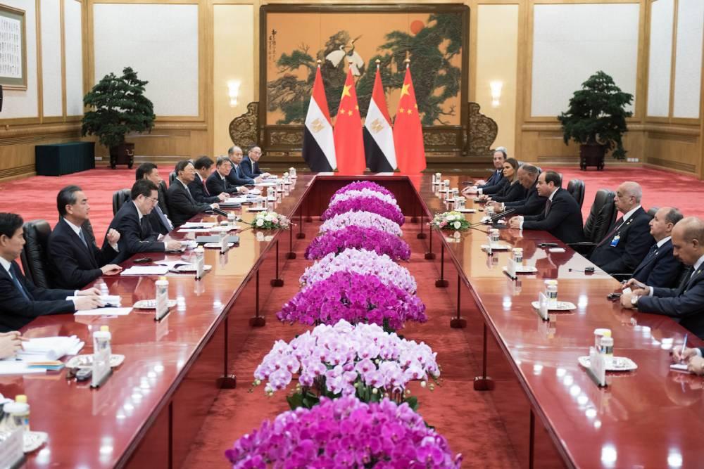 Discussions bilatérales à Pékin, en septembre 2018.  ©  AFP / Nicolas Asfouri