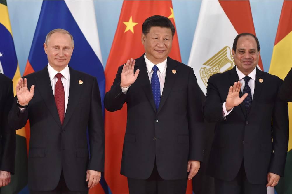 Intronisation lors du sommet des BRICS, à Xiamen (Chine), en septembre 2017.  ©  AFP / Kenzaburo Fukuhara