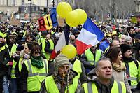 Le mouvement social des Gilets est traversé par cinquante nuances de jaune, du plus radical ou plus doux.  ©MUSTAFA YALCIN / Anadolu Agency