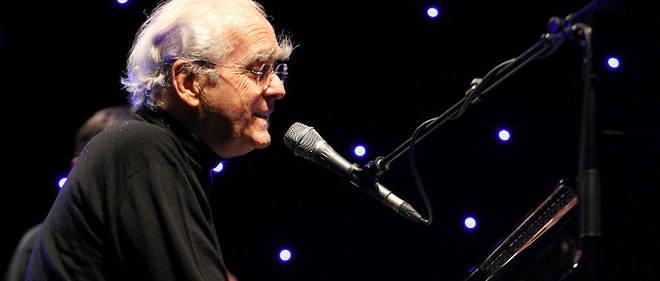 Le compositeur Michel Legrand lors du Festival de jazz d'Ajaccio, en Corse, le 27 juin 2012.