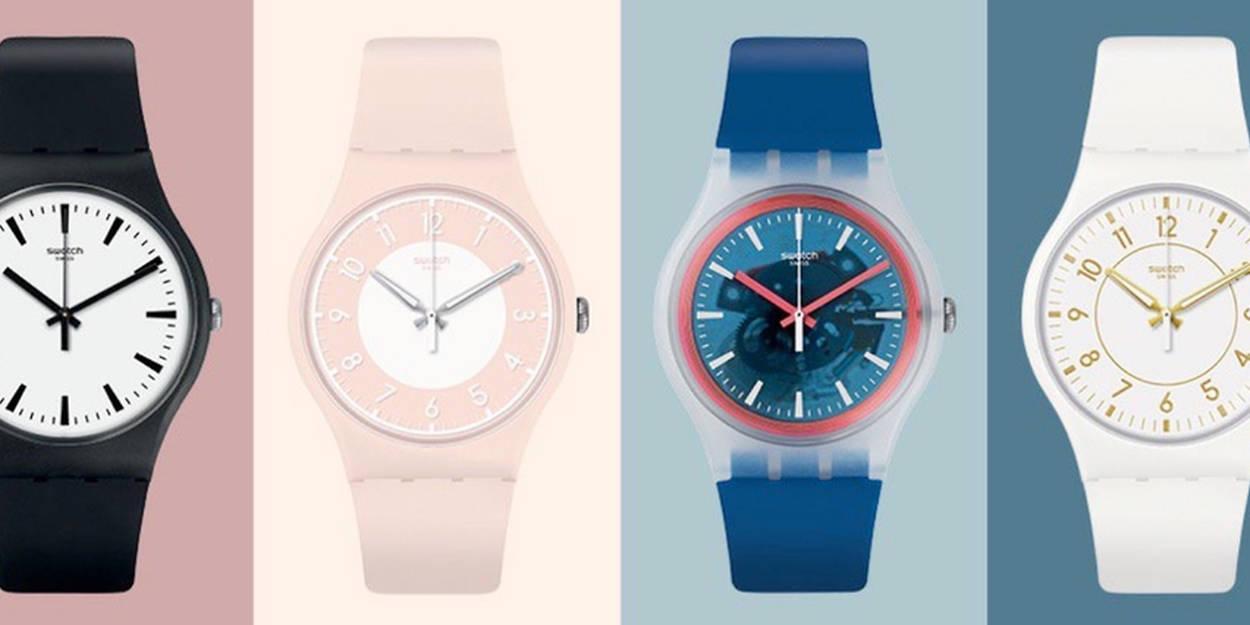 Quatre montres Swatch Pay pour Swatch Le Point Montres