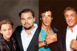 Leonardo DiCaprio et Sylvester Stallone prennent la pose avec leur version jeune.