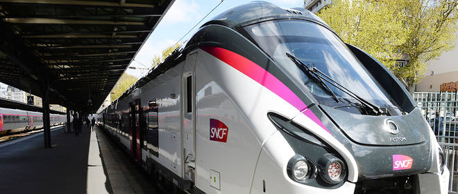 Les nouvelles rames Coradia des trains Intercités, fabriquées par Alstom, ici gare de de l'Est.