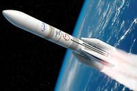 Vue d'artiste d'Ariane 6, qui doit effectuer son premier vol en 2020.
