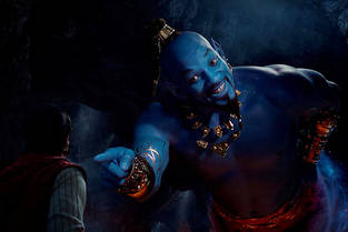 "Will Smith en Génie dans ""Aladdin""."