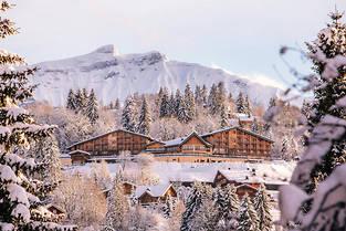 Fraîchement rénové, l'hôtel l'Arboisie offre un très beau panorama sur Megève et le massif des Aravis.