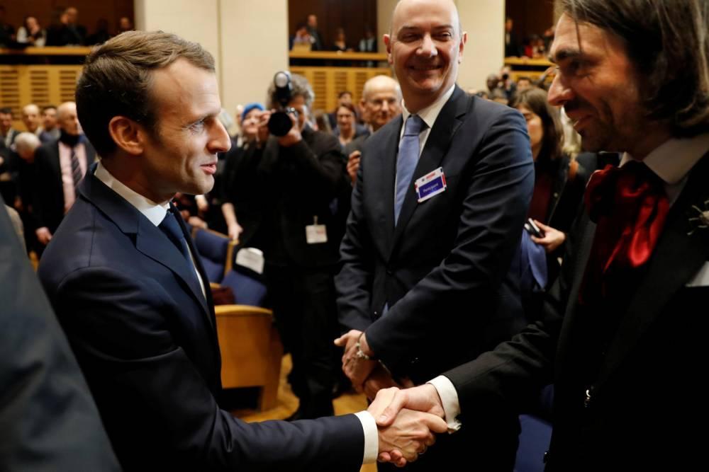 Emmanuel Macron ©  ETIENNE LAURENT / POOL / AFP