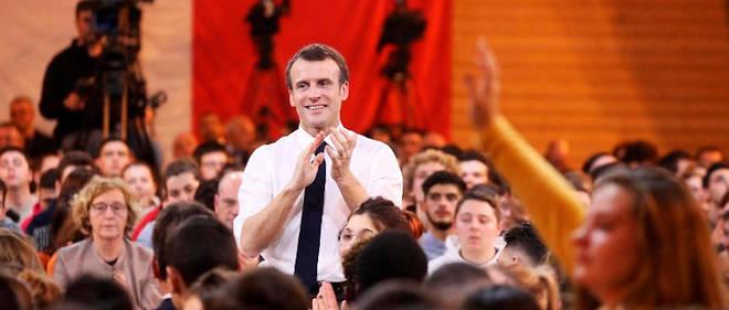 Emmanuel Macron lors d'un grand débat avec les jeunes, le 7 février 2019 (Photo d'illustration).