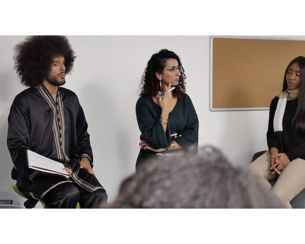 """Yassin Alami et Samia Saadani invités par l'association Makeda Saba à parler de """"Hrach is beautiful"""" à Lyon le 26 janvier 2019, à l'occasion de la Journée mondiale de la culture africaine et afrodescendante.  ©  DR"""