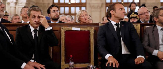 Emmanuel Macron et Nicolas Sarkozy en septembre 2018.