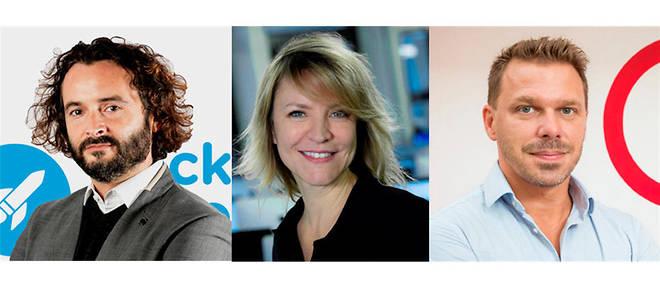 Les trois signataires Cyril Pierre de Geyer (Rocket School), Sophie Viger (42) et Frédéric Bardeau (Simplon.co) souhaitent que le nombre de femmes progresse dans les écoles d'informatique.
