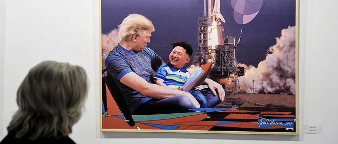 Donald Trump est à mis à l'honneur sur plusieurs dizaines de peintures dans l'exposition.