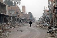 Hajin, le 27 janvier 2019. Le colonel Legrier déplore les bombardements massifs en lieu et place de l'envoi de troupes aguerries au sol.
