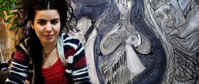 Zehra Dogan en février 2017, entre deux périodes d'incarcération.