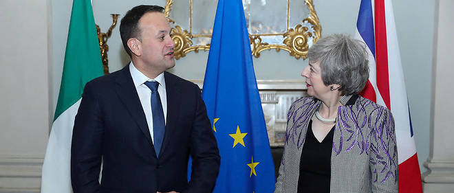 Le Premier ministre irlandais Leo Varadkar et son homologue britannique Theresa May.