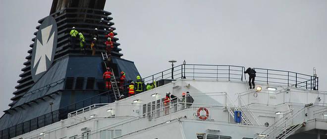 Les migrants ont réussi à montersur le «Calais Seaways», un ferry de la compagnie DFDS, qui venait d'accoster.