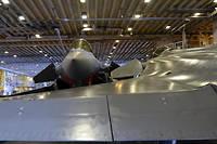 Des Rafale dans le hangar du porte-avions « Charles de Gaulle », fin janvier 2019, en mer Méditerranée.