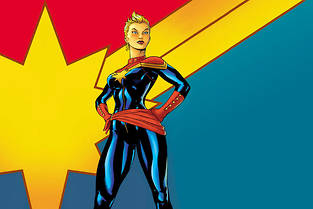 Sélection de comic books Captain Marvel.