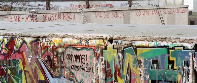 Vue du mur de Berlin le 13 novembre 1989.