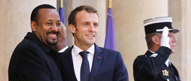 Abiy Ahmed et Emmanuel Macron à Paris, le 29 octobre 2018.