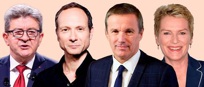 Jean-Luc Mélenchon, Frédéric Lordon, Nicolas Dupont-Aignan, Elise Lucet.