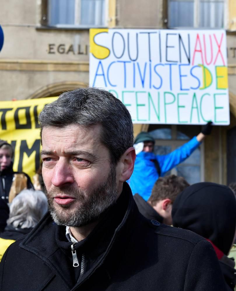 Greenpeace, Macron ©  JEAN-CHRISTOPHE VERHAEGEN / AFP
