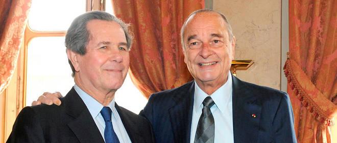 Jean-Louis Debré et Jacques Chirac en 2009.