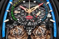 De nouveaux bolides horlogers signés Jacob & Co pour Bugatti.