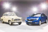 Autrefois moquée, la marque Skoda est devenue synonyme de fiabilité et d'excellent rapport qualité/prix en Grande-Bretagne, d'où son succès outre-Manche. En photo, 60 ans d'évolution de la première génération d'Octavia datant de 1959 au modèle actuel.