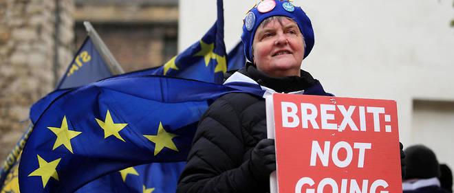 Une militante anti-Brexit en mars 2019. Il n'y a pas de sortie facile de l'Union européenne pour un État-membre.