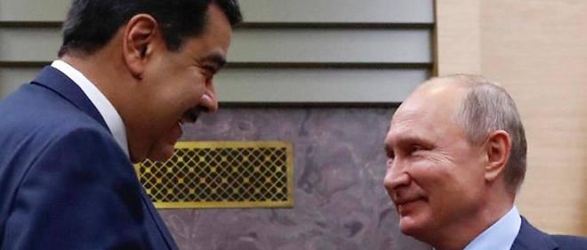 Vladimir Poutine et Nicolás Maduro, lors de leur rencontre à Moscou, en décembre 2018.