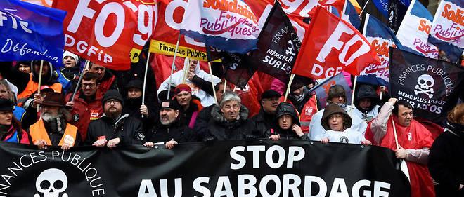 Manifestation contre la réforme de la fonction publique, à Tourcoing le 14 mars 2019.