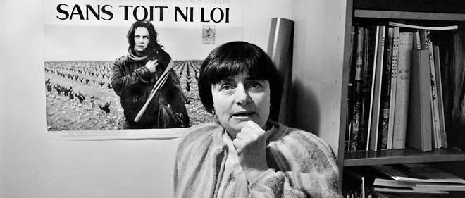 Agnès Varda en 1986, lors de la sortie de son film « Sans toit ni loi ».