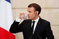 Emmanuel Macron lors d'une conférence de presse commune avec le président chinois Xi Jinping, le 25 mars 2019.