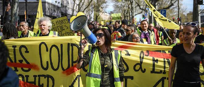 À 14 heures, la mobilisation des Gilets jaunes était en baisse.