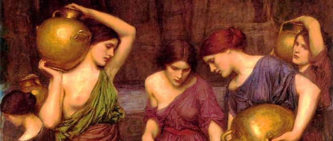 Les Danaïdes si blanches de Waterhouse (1849-1917), loin de l'étrangeté des filles de Danaos d'Eschyle.