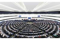 L'hémicycle du Parlement européen.