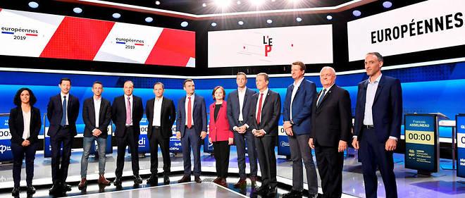 Les douze principales têtes de liste invitées sur France 2 pour un grand débat.