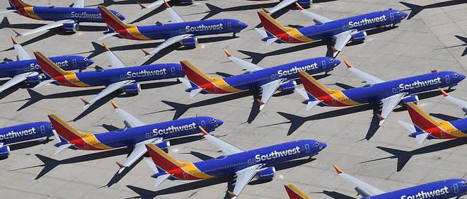 La compagnie low cost américaine SouthWest, qui possède 34 B737 MAX, les stocke à Victorville, un cimetière d'avions au milieu du désert.