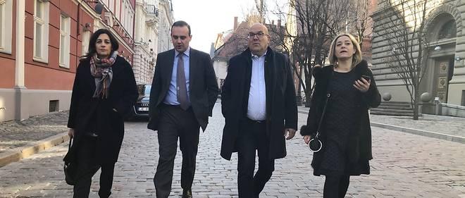 La délégation LREM en Lituanie et en Lettonie : Laurence Farreng, Alexandre Holroyd, Bruno Bonnell et Florence Lilti (de gauche à droite)
