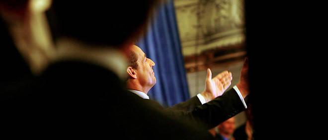 Nicolas Sarkozy en meeting à la salle Gaveau le 22 avril 2007.