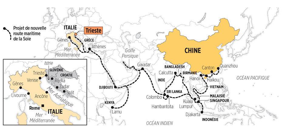 Trieste, porte d'entrée de la Chine