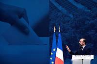 Le Premier ministre Édouard Philippe lors de la restitution du grand débat national, ce lundi, au Grand Palais à Paris.