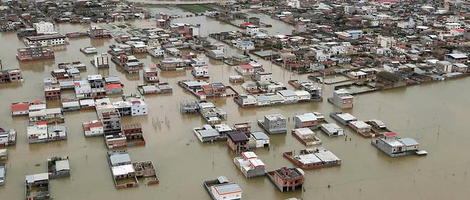 La région du Golestan, ici le 27 mars 2019, a été la première touchée par les inondations.
