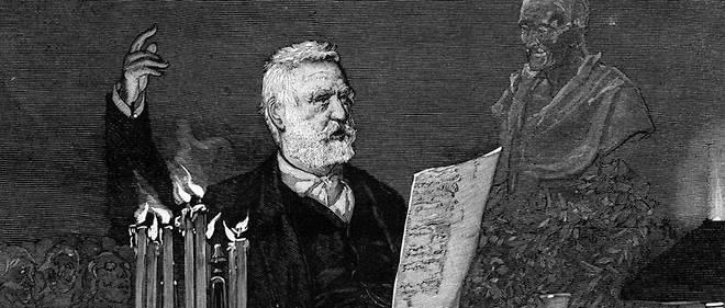 Victor Hugo lors d'un discours.