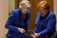 Theresa May et Angela Merkel à Bruxelles le 10 avril 2019.