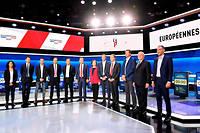 Les candidats aux européennes lors du débat organisé sur France 2.