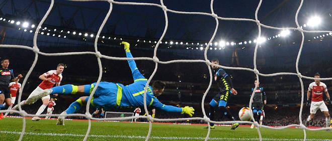 Aaron Ramsey a rapidement ouvert le score pour Arsenal face au Napoli.